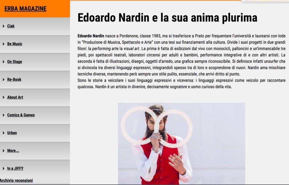 erba magazine - edoardo nardin